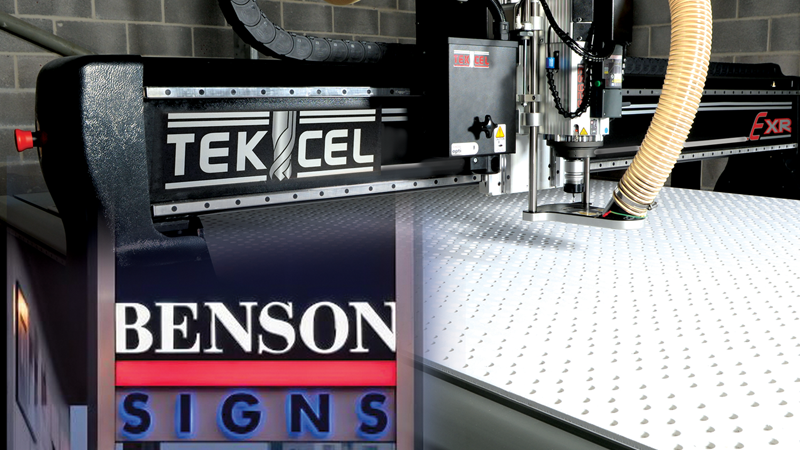 Benson Signs Installs Its Second Tekcel CNC Router