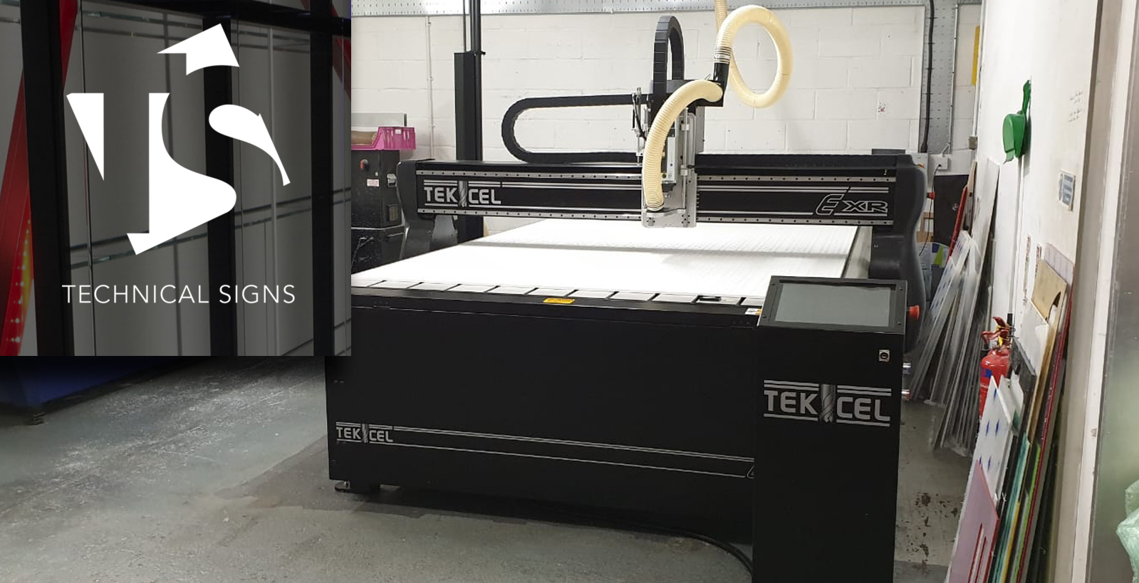 Watford based Technical Signs upgrade to latest Tekcel EXR 2m x 3m system